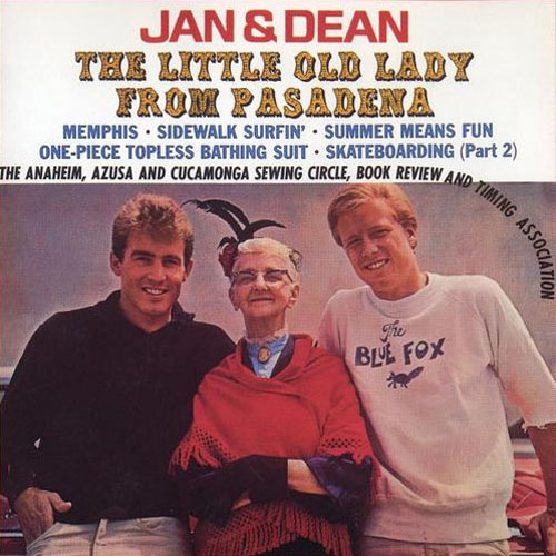 "Album cover for ""The Little Old Lady From Pasadena""  1963, by Jan and Dean"