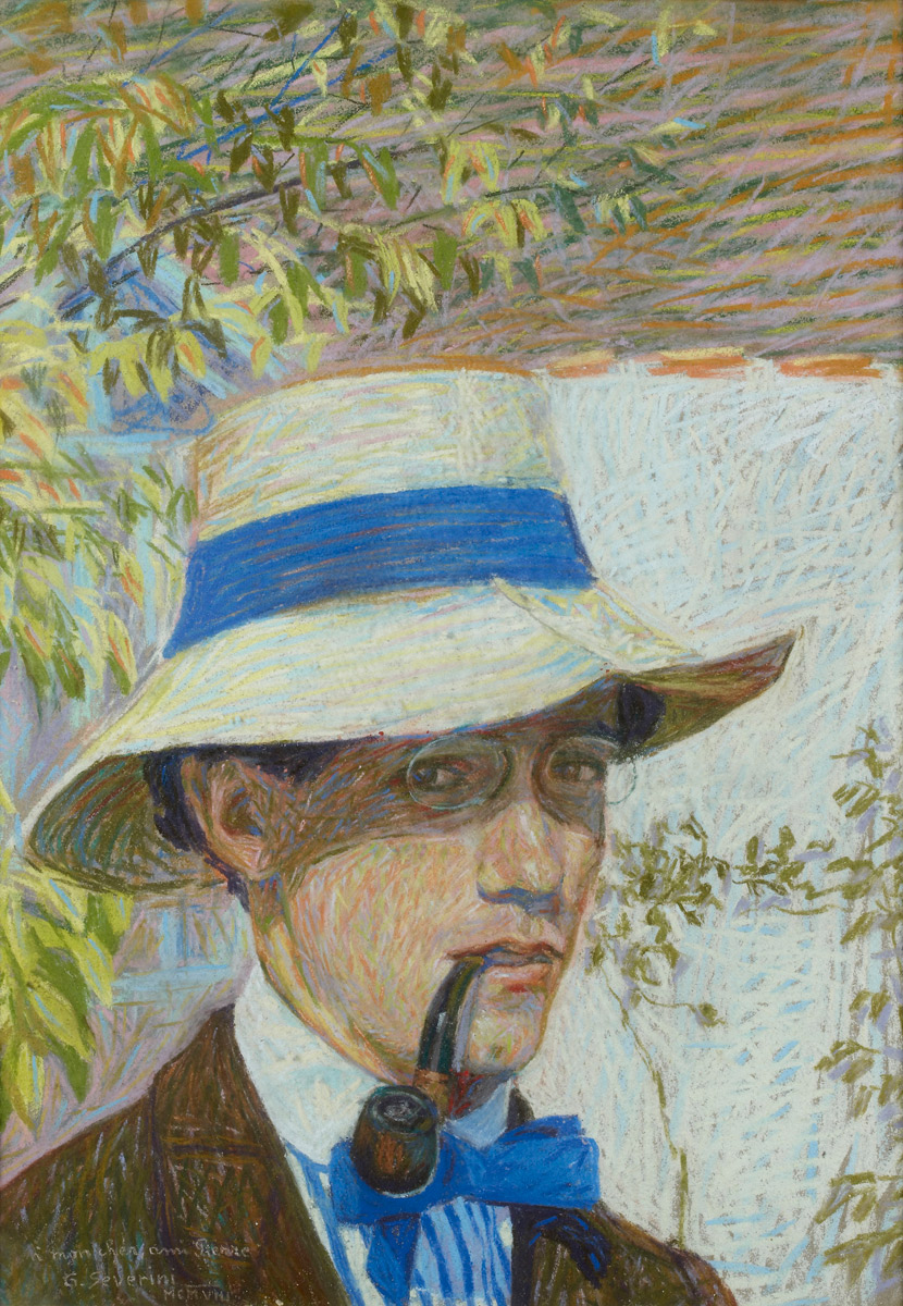 """Self Portrait,"" 1908 by Gino Severini"
