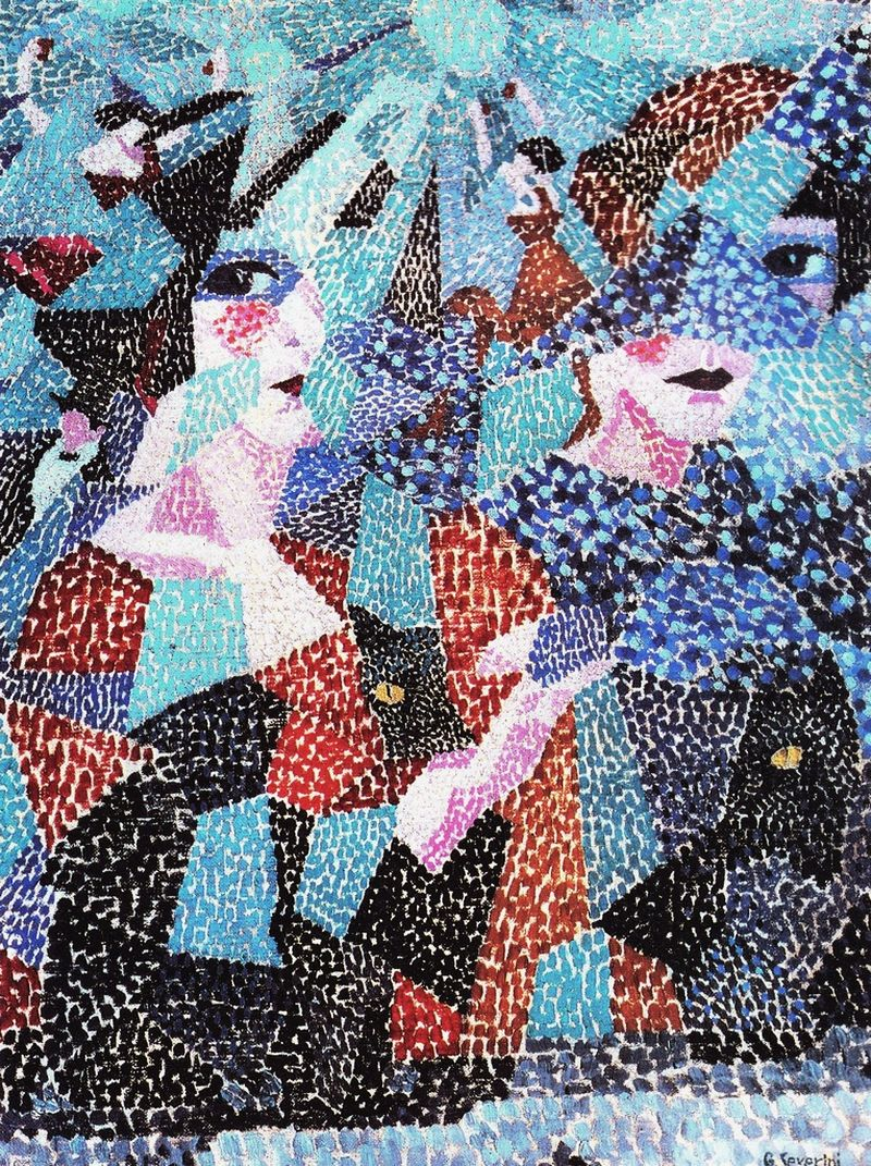 """La Danseuse Obsedante,"" 1911 by Gino Severini"