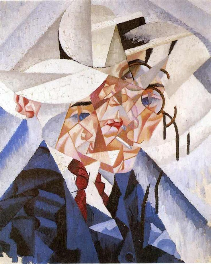 """Self Portait,"" 1912 by Gino Severini"