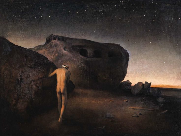 """Man In Abandoned Landscape,"" by Odd Nerdrum"