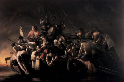 °Refugees At Sea,° 1979 by Odd Nerdrum
