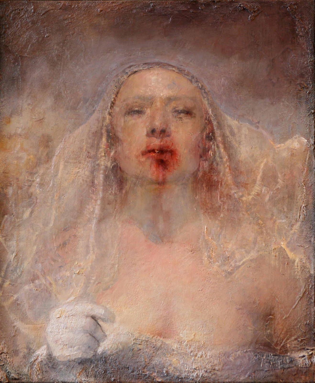 """""""Running Bride,"""" by Odd Nerdrum"""