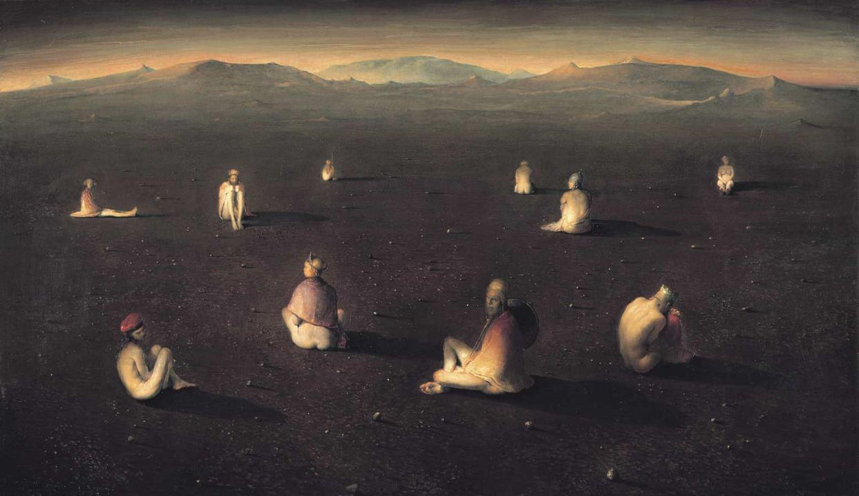 """Lunatics,"" by Odd Nerdrum in the year 2000, a time period where Nerdrum was experimenting with a painting technique that led to later damage of his work...and a complicated, and possibly quite unfair, legal issue for the artist"