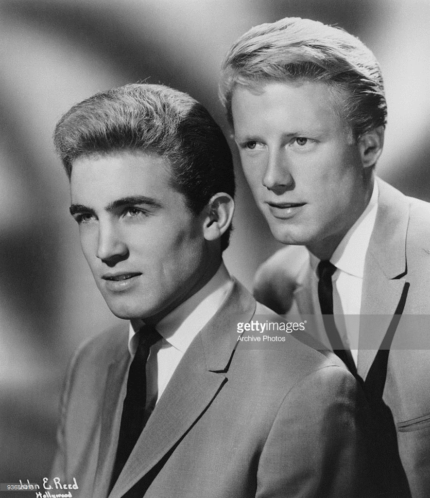 "Jan Berry and Dean Torrence, as the singing duo ""Jan and Dean,"" circa 1961"