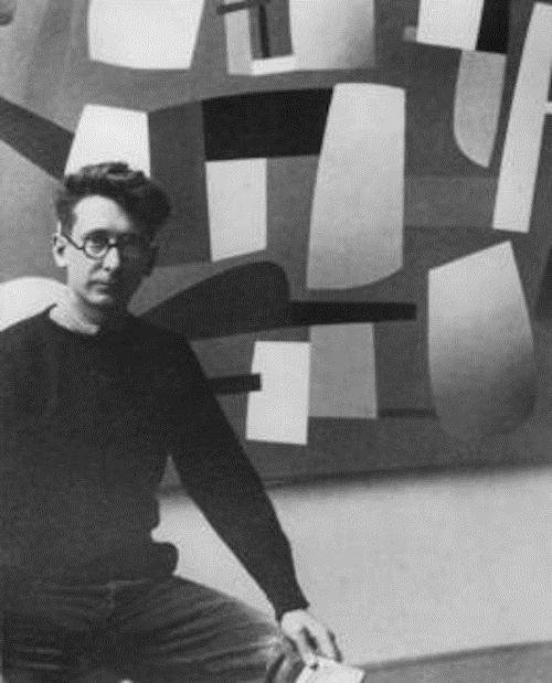 Jean Hélion in his studio, c.