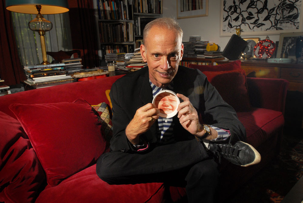 Filmmaker and writer John Waters at his home in Baltimore, Maryland. he has just published a new book about his role models and influences.