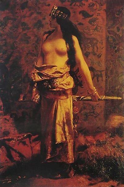 """""""Judith,"""" by Raja Ravi Varma, 1873"""