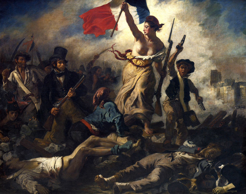 """Liberty Leading The People,"" by Eugène Delacroix, 18"