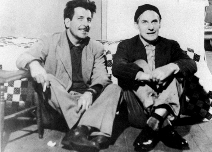 Franz Kline and Willem de Kooning, c. 1950