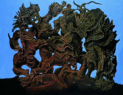 """La Horde,"" 1927 by Max Ernst (grattage technique)"