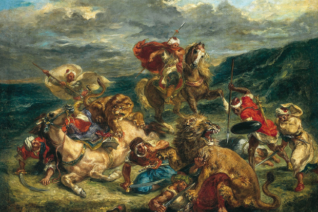 """Lion Hunt,"" by Eugène Delacroix, 1861"