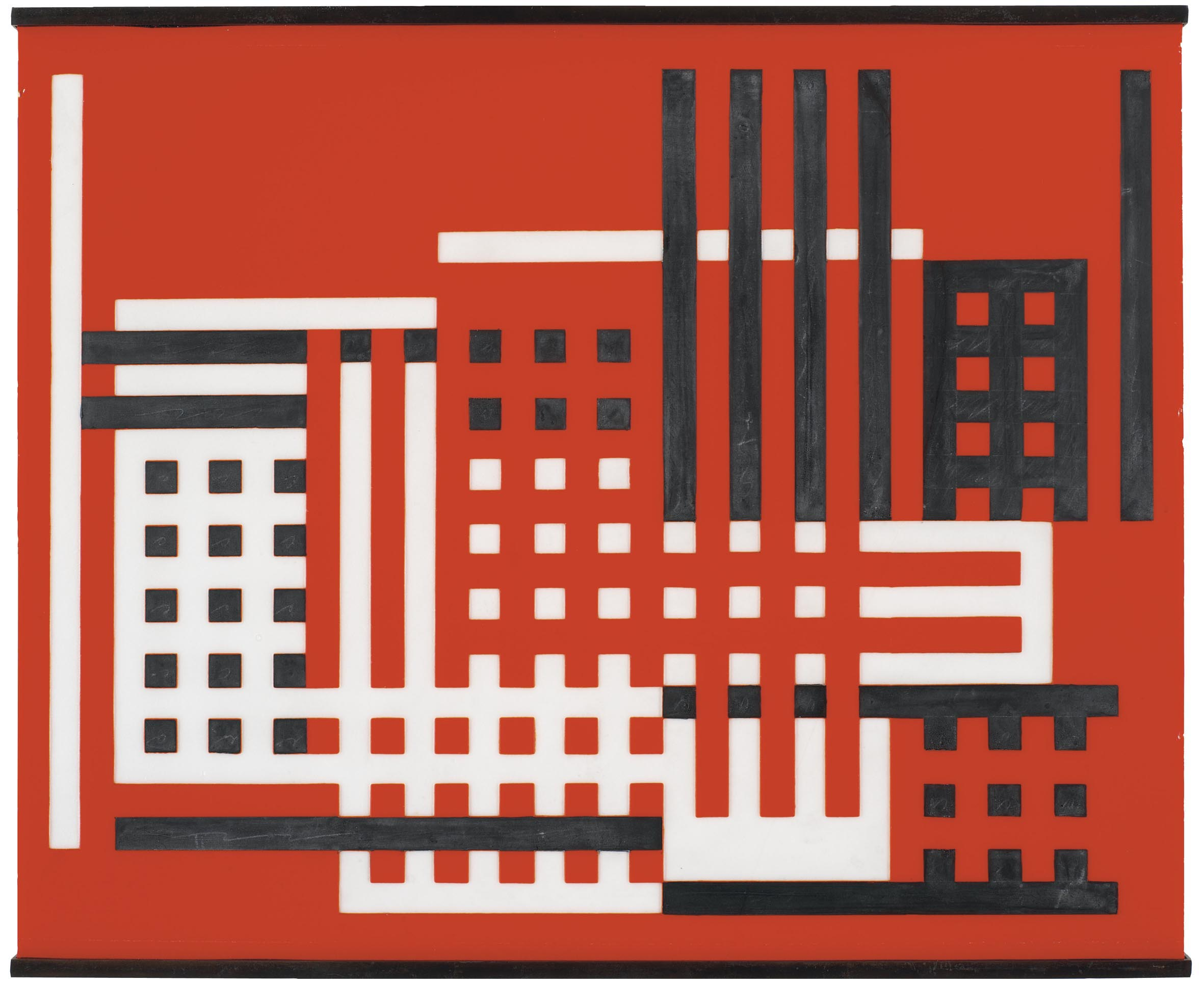 """Fabrica"" by Josef Albers, 1925 - an example of the Bauhaus theory that Noland studied with the great teacher"