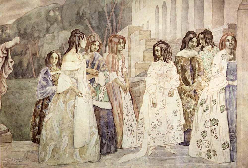 """""""Requiem,"""" by Victor Borisov-Musatov, 190"""