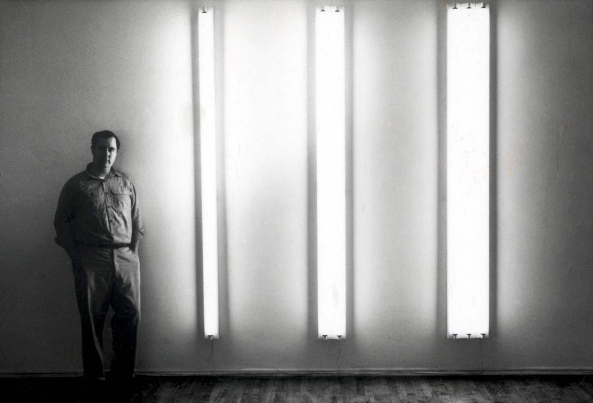 """The Nominal Three,"" 1963 by Dan Flavin (seen here)"