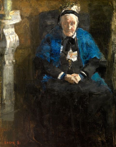 """Old Lady With Blue Shawl,"" by James Ensor, 1881. The sitter was the artist's grandmother."