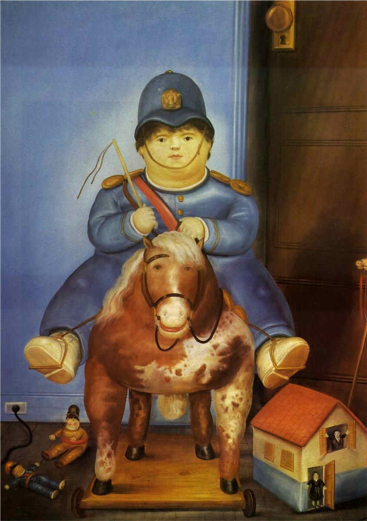 """Pedro On Horseback,"" by Fernando Botero, 1974"