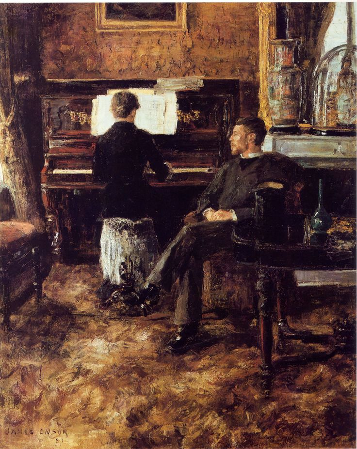 """Russian Music"" by James Ensor, 1881"