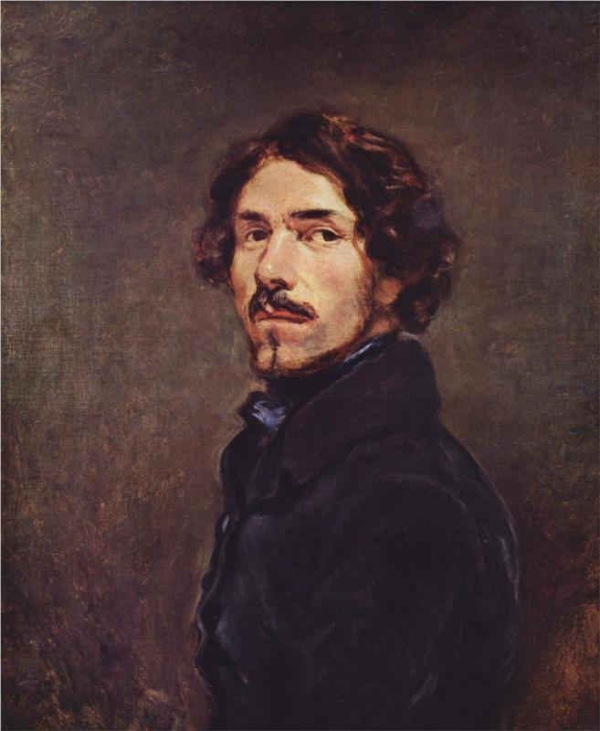 """""""Self Portrait,"""" by Eugène Delacroix, 1840"""
