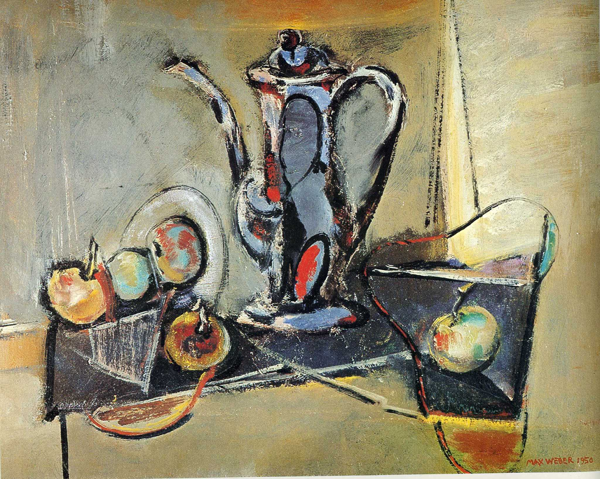 """Still Life With Apples,"" by Max Weber, 1950"