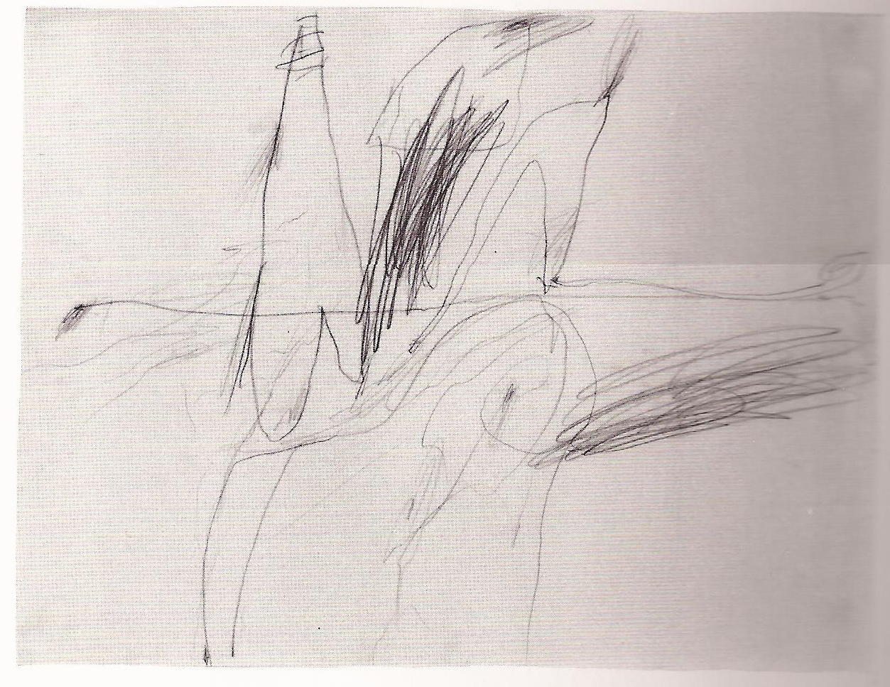 Blind drawing by Cy Twombly, 1954