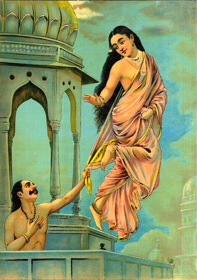 """Urvashi And Pururavas,"" by Raja Ravi Varma, date unknown"