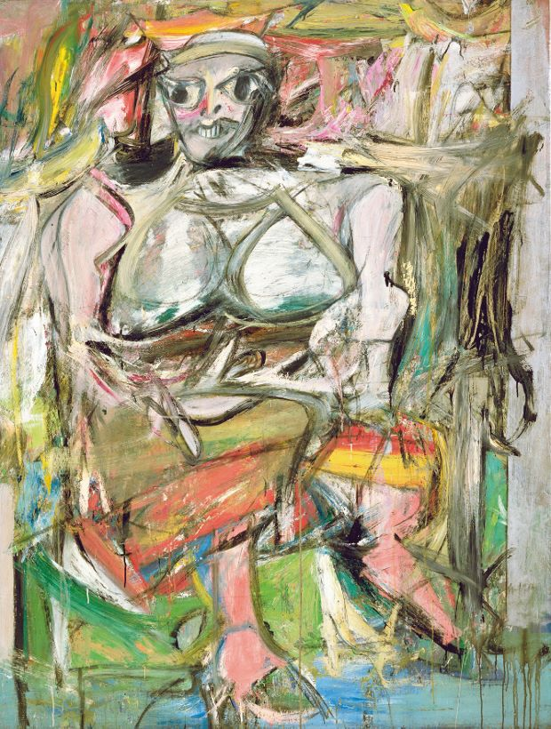 """Woman,"" by Willem de Kooning, 1950-3 - oil, enamel, and charcoal on canvas"