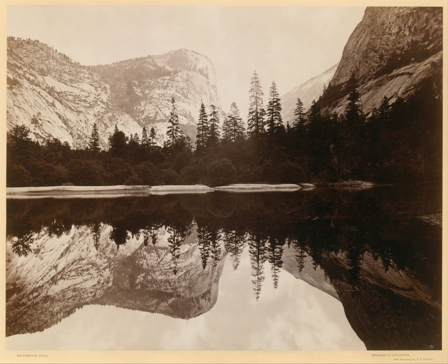 Image of Yosemite by Eadward Muybridge, 1868