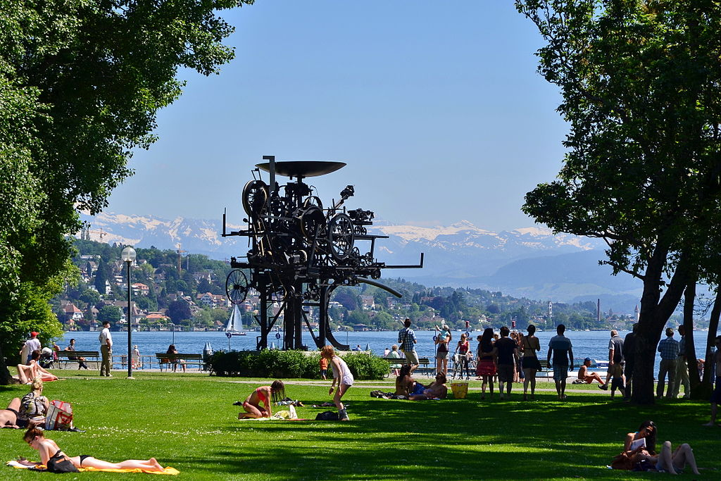 """Heureka,"" by Jean Tinguely, Basel, Switzerland. Created 19"