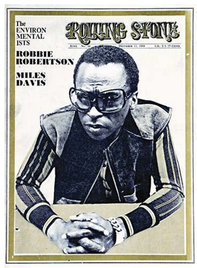 Miles Davis on the cover of the Rolling Stone, 1969