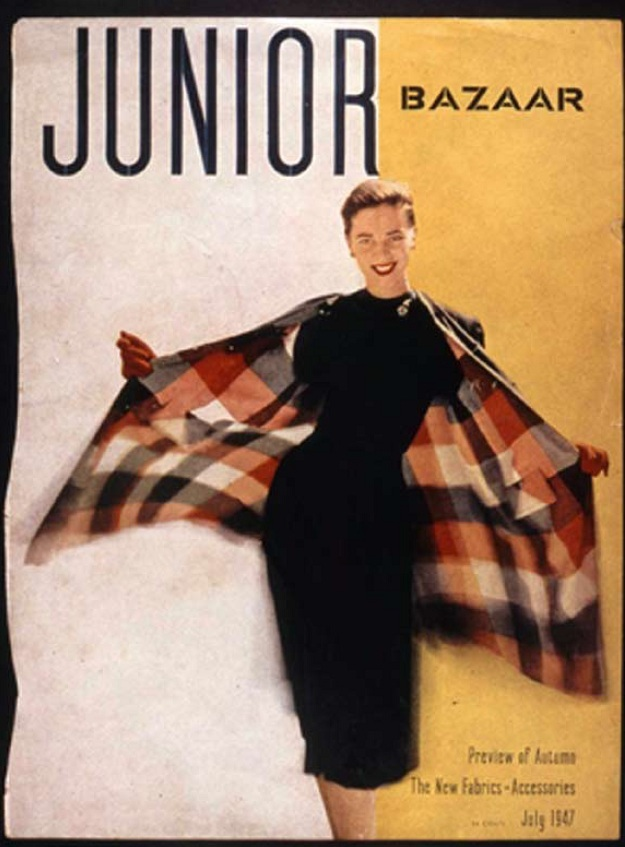 "Cover of ""Junior Bazaar, 1947 with model Anne Theophane Graham photographed by Richard Avedon"
