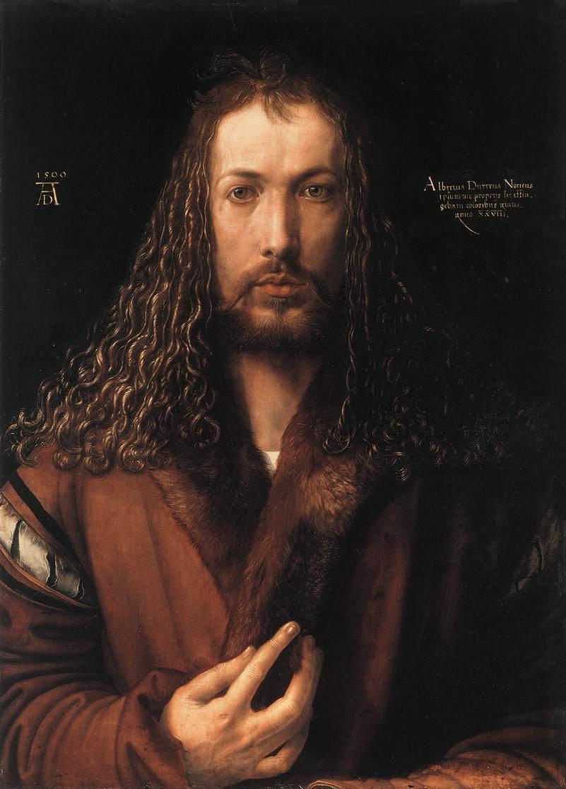 Self portrait by Albrecht Dürer, age 28