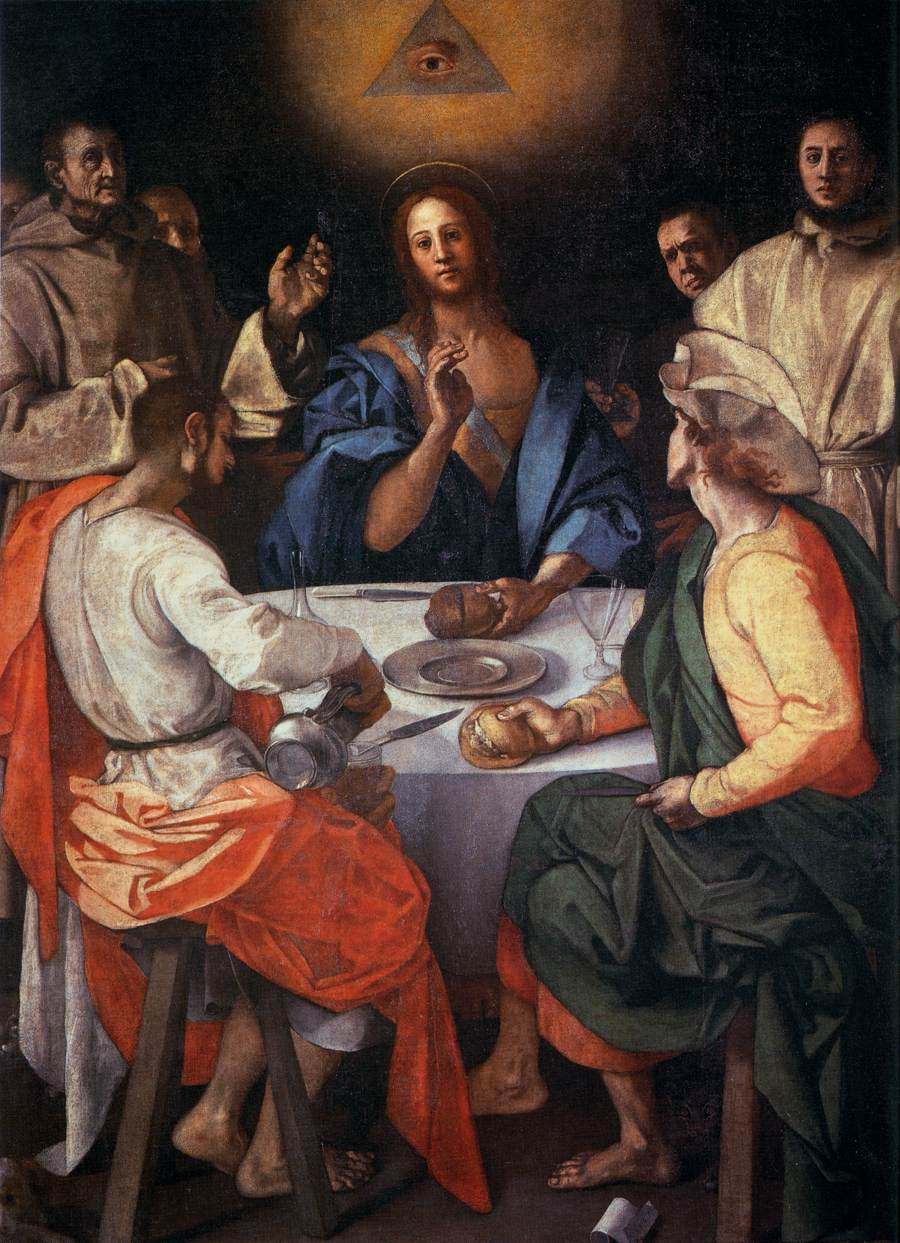 """Supper At Emmaus,"" by Jacopo Pontormo, 1525"