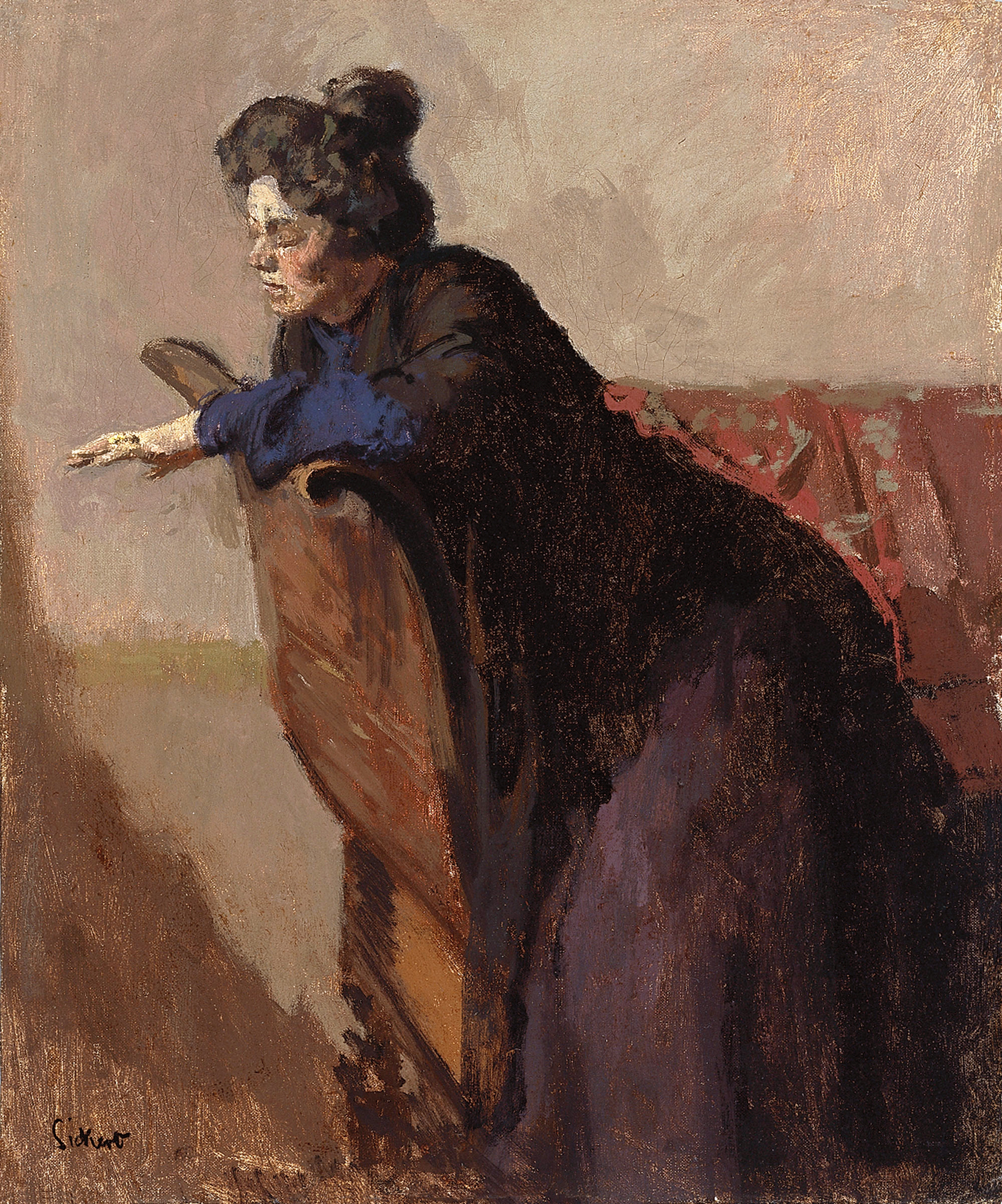 """La Giuseppina, the Ring,""  by Walter Sickert, 1903-5"