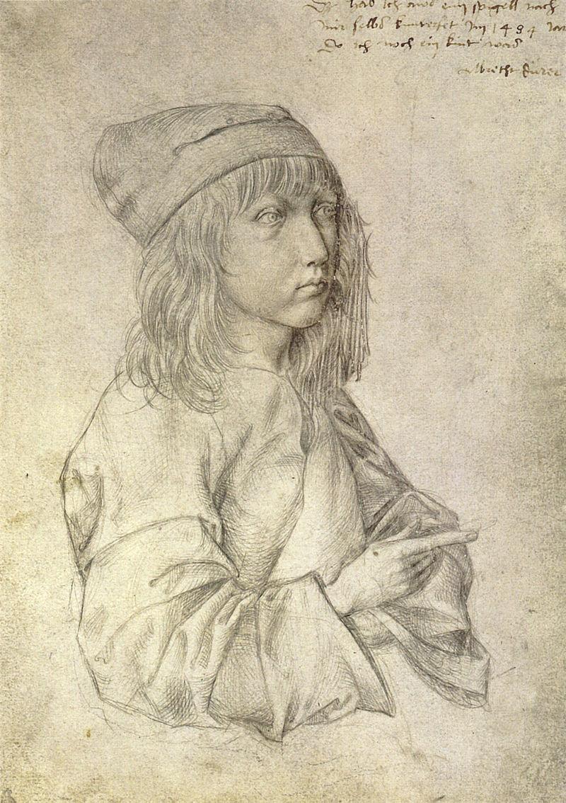 age 13 self portrait durer