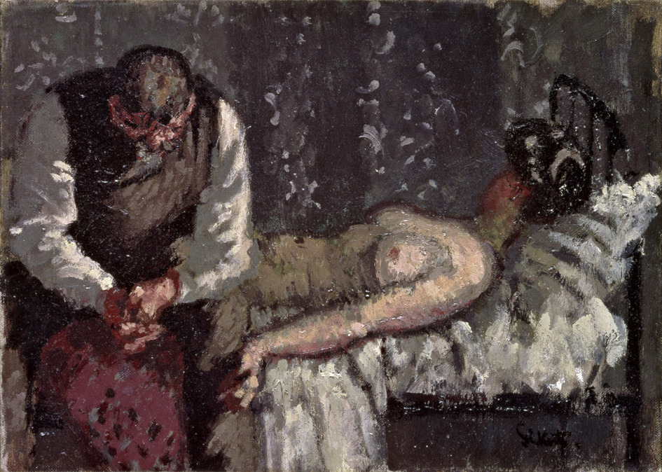 """The Camden Town Murder,"" originally named, ""What Shall We Do about the Rent?"" by Walter Sickert, 1908"