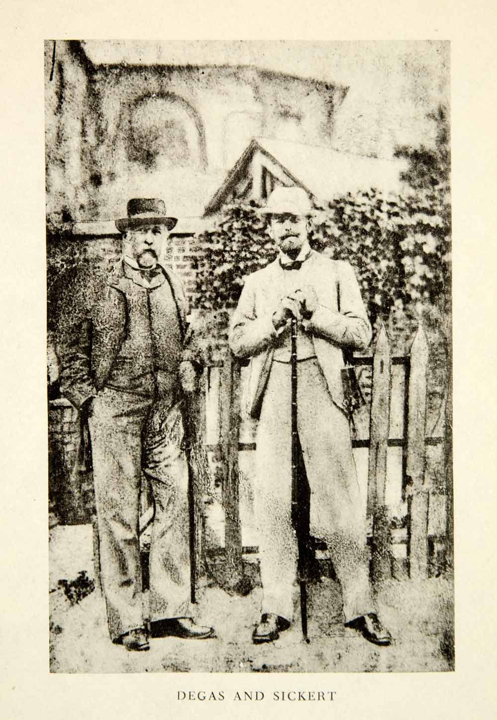 Edgar Degas (R) and Walter Sickert (L) - Degas had been an enormous influence on Sickert's progression as a painter