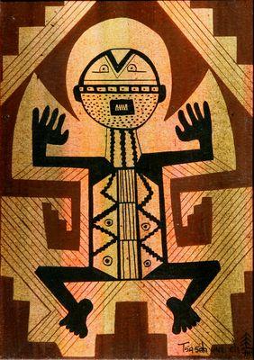 """""""Petroglyph,"""" by Helen Hardin, n/d"""