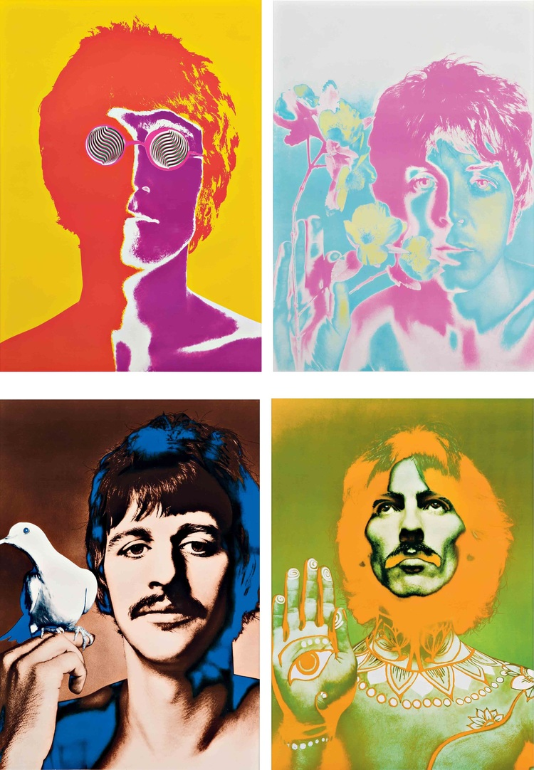 The iconic Beatles poster, by Richard Avedon, 1967...long before Photoshop.