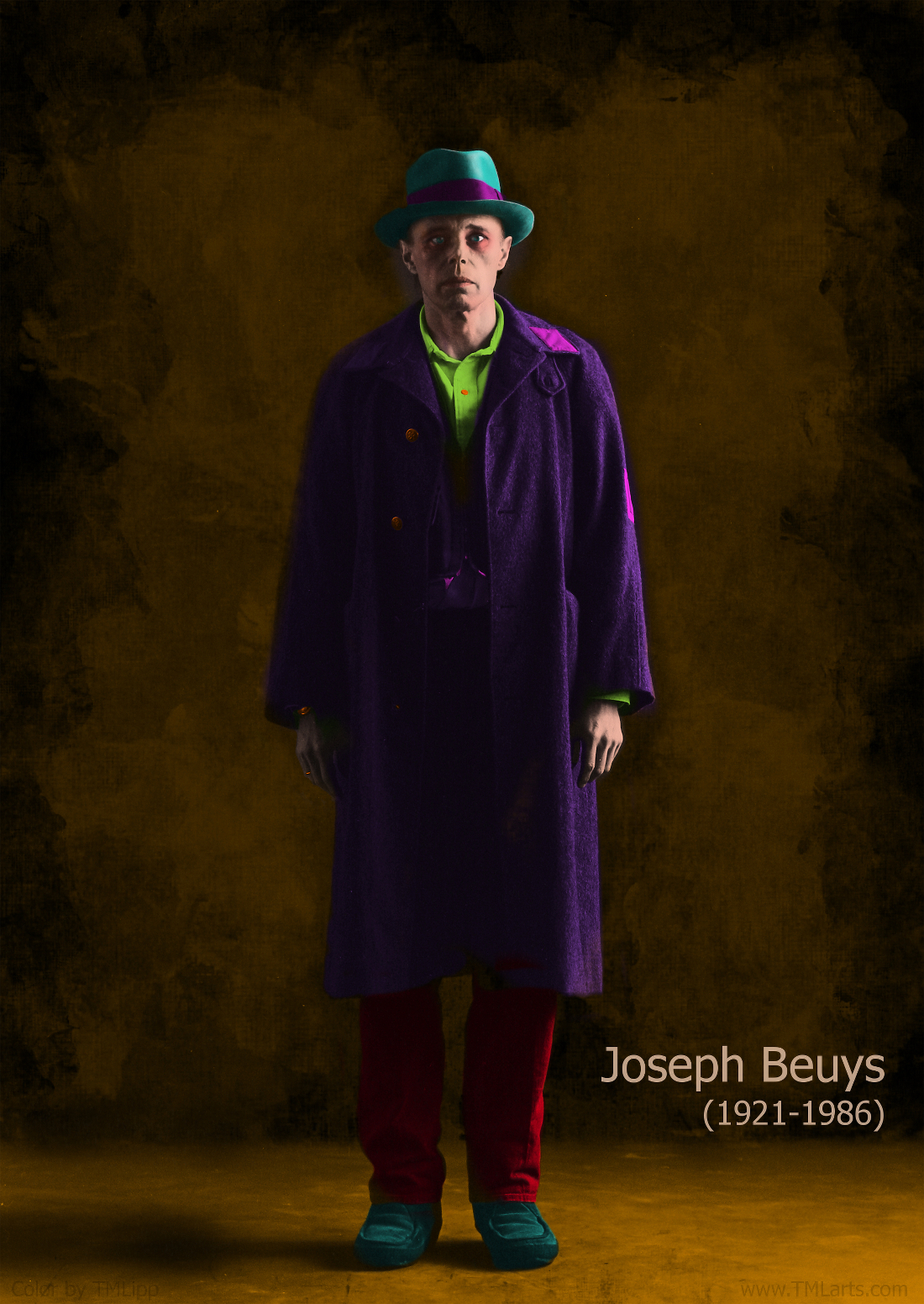 Joseph Beuys, 1972 (color by TMLipp)