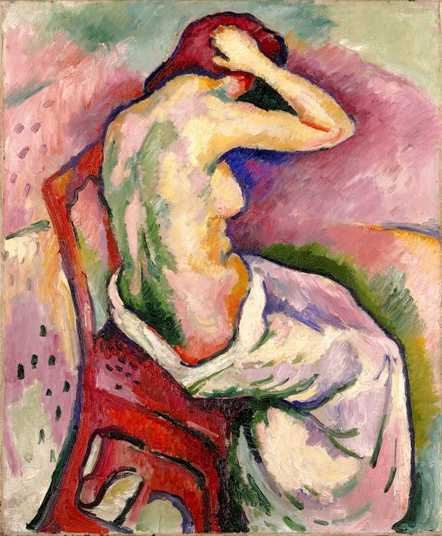 """Seated Nude,"" by Georges Braque, 1906"