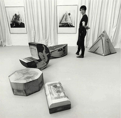 "Helen Chadwick and her ""Ego Geometria Sum"" exhibition, 1983"