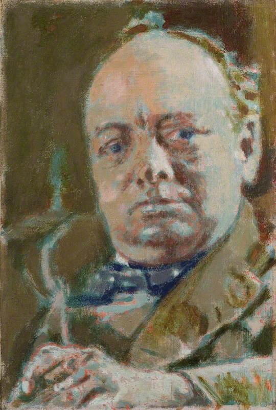 """Portrait of Winston Churchill,"" by Walter Sickert, 1927"