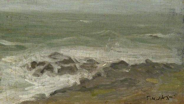 """Clodgy Point, Cornwall,"" by Walter Sickert, 1883-4"