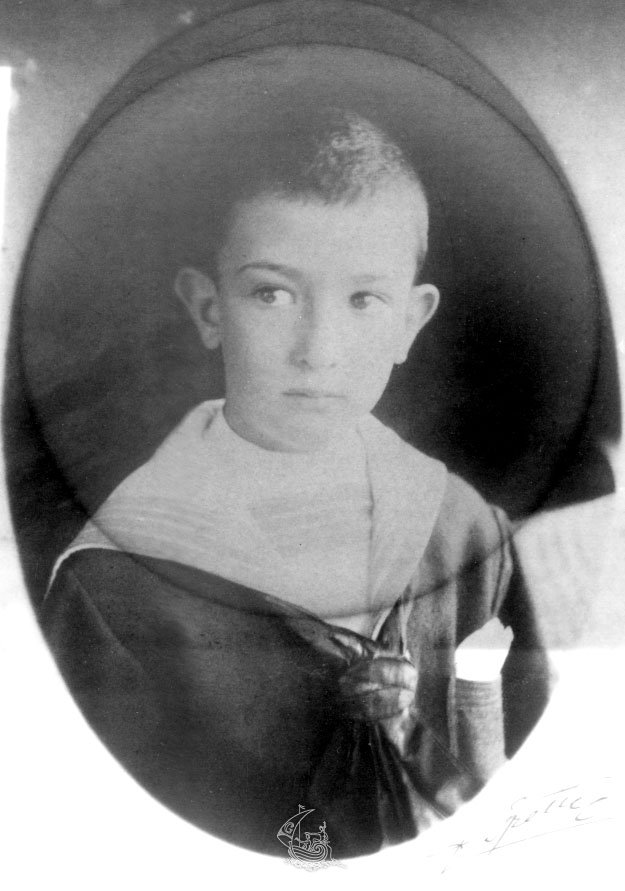 Salvador Dali in 1911, age 7