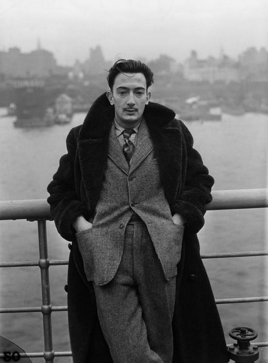 Salvador Dalí arriving in New York City, December 7, 1936