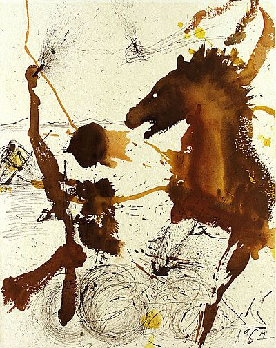 "Example of Dali's ""Bulletism,"" from 1967"