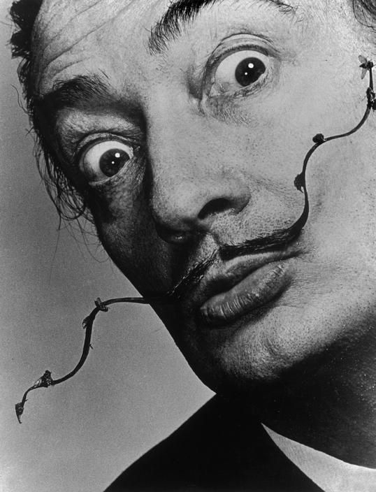 Dalí's moustache was already famous, but was made legendary by the vision and foresight of the great photographer, Philippe Halman.