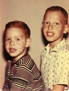 Danny Elfman (right) and his brother Richard - c.1958