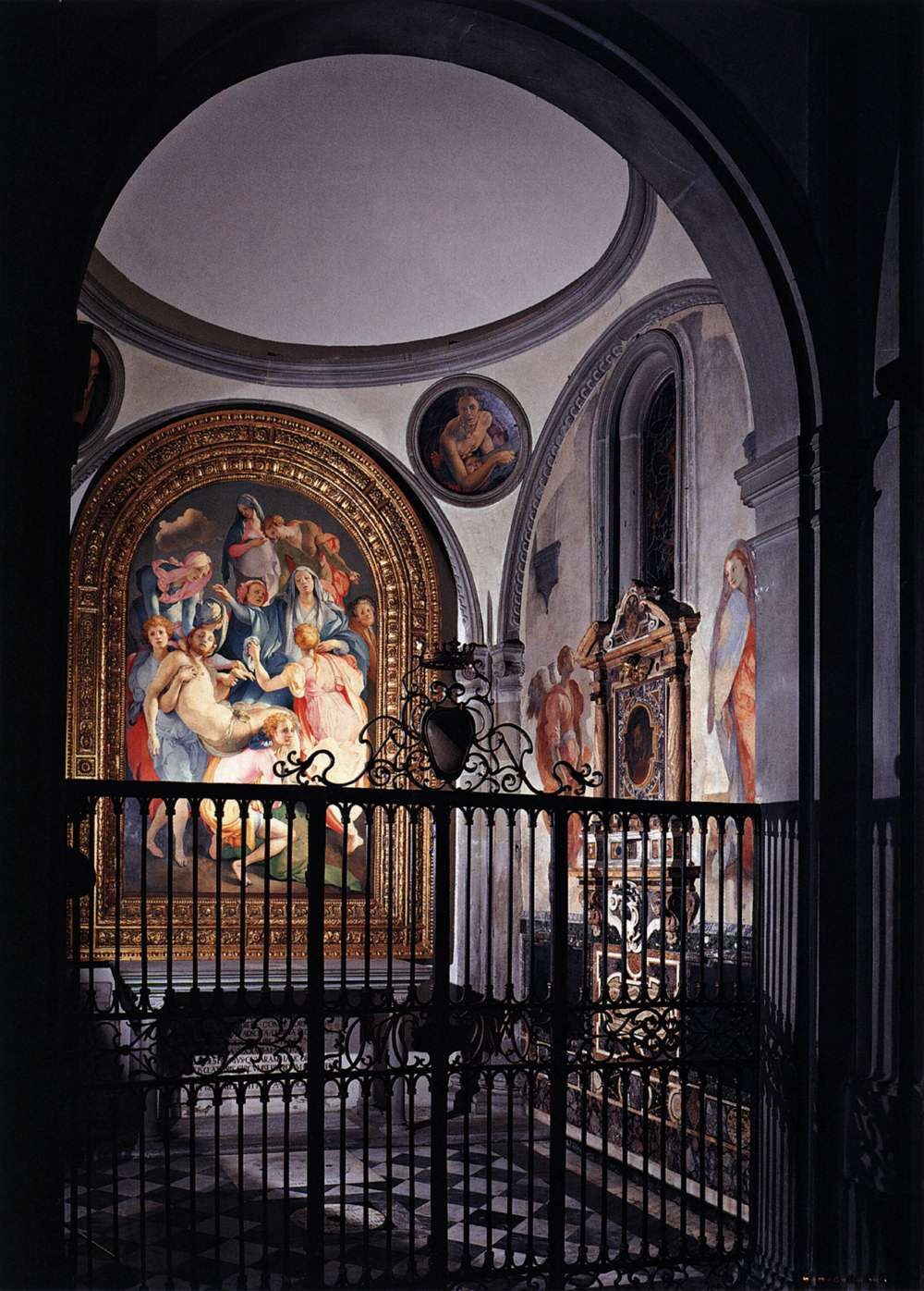 The Capponi Chapel in the church Santa Felicità in Florence, Italy, featuring the breathtaking artwork of Jacopo Pontormo, 15